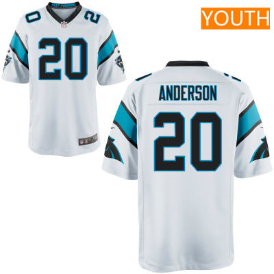 Youth Carolina Panthers #20 C. J. Anderson White Road Stitched NFL Nike Game Jersey
