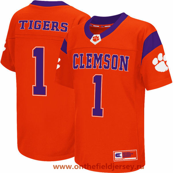 Youth Clemson Tigers #1 Colosseum Orange College Football Jersey