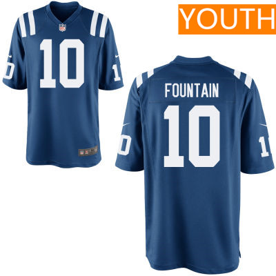 Youth Indianapolis Colts #10 Daurice Fountain Royal Blue Team Color Stitched NFL Nike Game Jersey