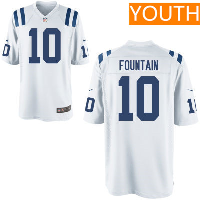 Youth Indianapolis Colts #10 Daurice Fountain White Road Stitched NFL Nike Game Jersey
