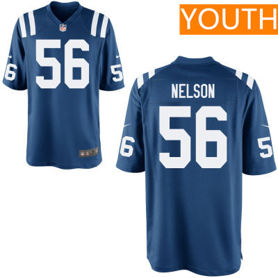Youth Indianapolis Colts #56 Quenton Nelson Royal Blue Team Color Stitched NFL Nike Game Jersey