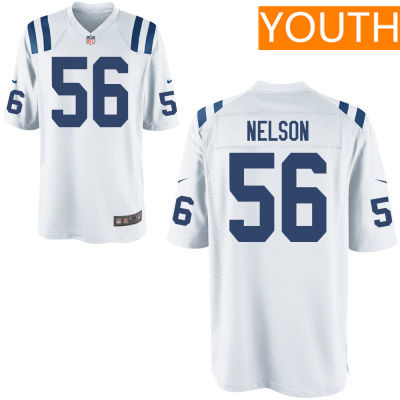 Youth Indianapolis Colts #56 Quenton Nelson White Road Stitched NFL Nike Game Jersey