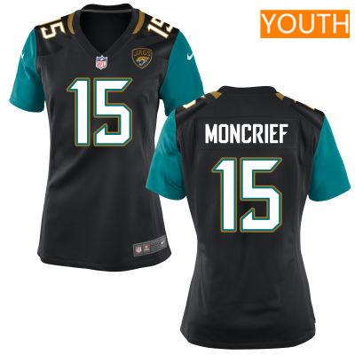 Youth Jacksonville Jaguars #15 Donte Moncrief Black Alternate Stitched NFL Nike Game Jersey