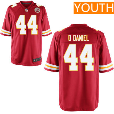Youth Kansas City Chiefs #44 Dorian O'Daniel Red Team Color Stitched NFL Nike Game Jersey