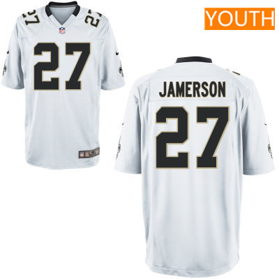 Youth New Orleans Saints #27 Natrell Jamerson White Road Stitched NFL Nike Game Jersey