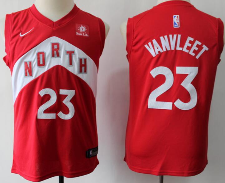 Youth Nike Toronto Raptors #23 Fred Vanvleet Red 2018-19 Swingman Earned Edition Jersey