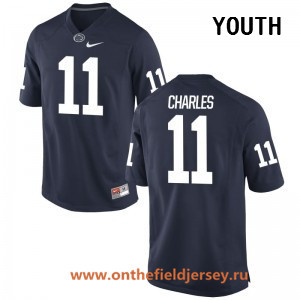 Youth Penn State Nittany Lions #11 Irvin Charles Navy Blue College Football Stitched Nike NCAA Jersey