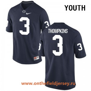 Youth Penn State Nittany Lions #3 DeAndre Thompkins Navy Blue College Football Stitched Nike NCAA Jersey