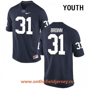 Youth Penn State Nittany Lions #31 Cameron Brown Navy Blue College Football Stitched Nike NCAA Jersey
