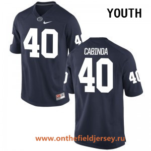 Youth Penn State Nittany Lions #40 Jason Cabinda Navy Blue College Football Stitched Nike NCAA Jersey