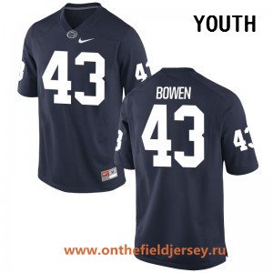Youth Penn State Nittany Lions #43 Manny Bowen Navy Blue College Football Stitched Nike NCAA Jersey