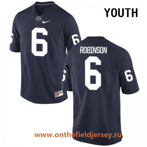 Youth Penn State Nittany Lions #6 Andre Robinson Navy Blue College Football Stitched Nike NCAA Jersey