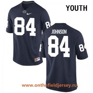 Youth Penn State Nittany Lions #84 Juwan Johnson Navy Blue College Football Stitched Nike NCAA Jersey