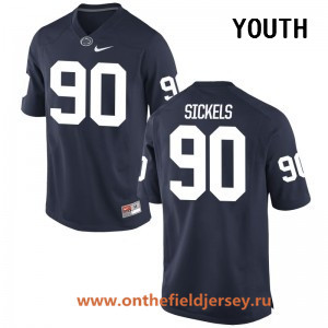 Youth Penn State Nittany Lions #90 Garrett Sickels Navy Blue College Football Stitched Nike NCAA Jersey