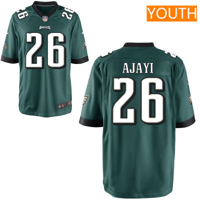 Youth Philadelphia Eagles #26 Jay Ajayi Midnight Green Team Color Stitched NFL Nike Game Jersey