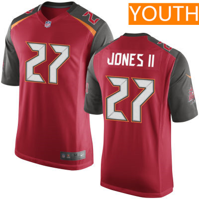 Youth Tampa Bay Buccaneers #27 Ronald Jones II Red Team Color Stitched NFL Nike Game Jersey