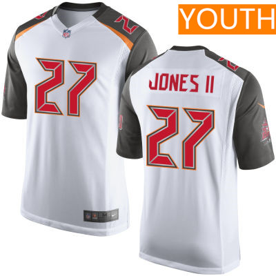 Youth Tampa Bay Buccaneers #27 Ronald Jones II White Road Stitched NFL Nike Game Jersey