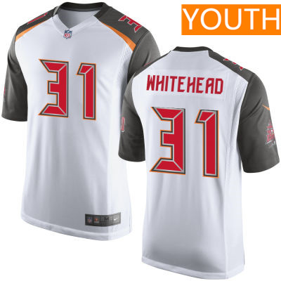 Youth Tampa Bay Buccaneers #31 Jordan Whitehead White Road Stitched NFL Nike Game Jersey