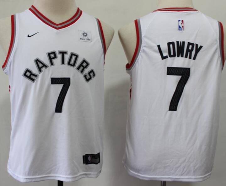 Youth Toronto Raptors #7 Kyle Lowry White NBA Swingman Icon Edition Jersey