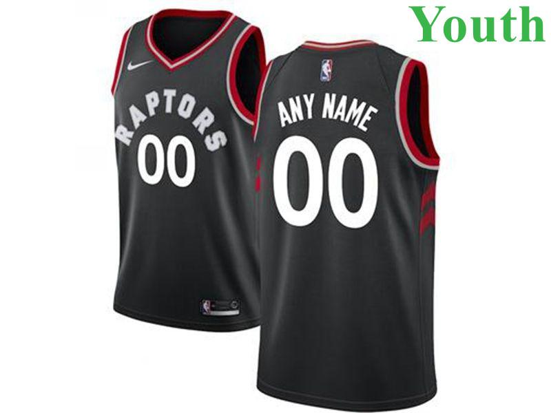 Youth Toronto Raptors Custom 2018-2019 Black Nike Swingman Basketball Jersey