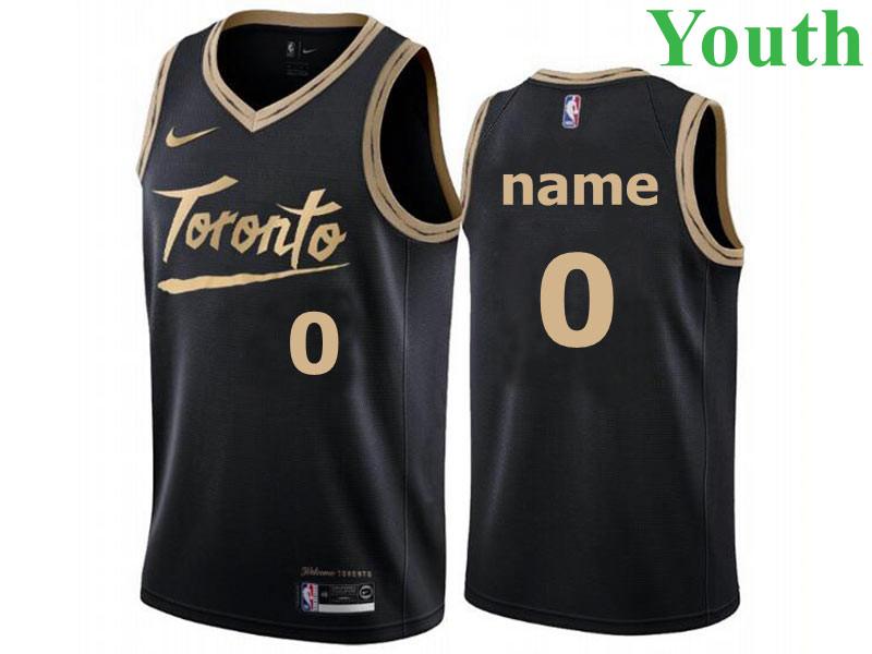 Youth Toronto Raptors Custom 2021 Black City Edition Nike Swingman Basketball Jersey