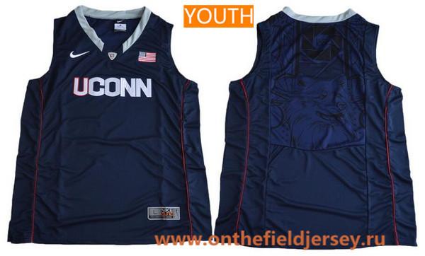 Youth Uconn Huskies Custom Nike College Basketball Jersey - Navy Blue