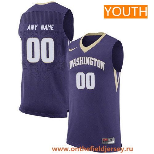 Youth Washington Huskies Custom Nike College Basketball Jersey - Purple