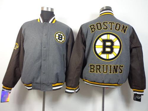 Men's Boston Bruins Blank Gray Jacket