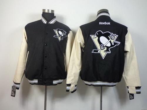 Men's Pittsburgh Penguins Blank Black Jacket