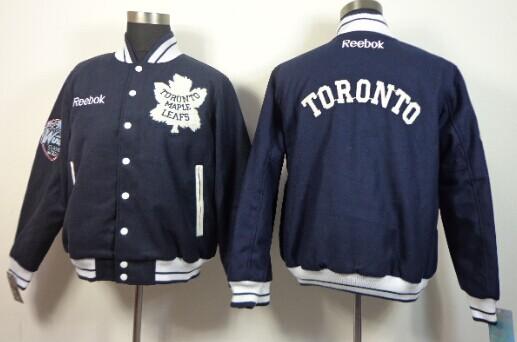 Men's Toronto Maple Leafs Blank Navy Blue Jacket