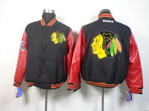 Men's Chicago Blackhawks Blank Black Jacket