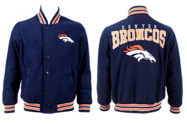 Men's Denver Broncos Navy Jacket FY