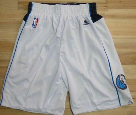 Men's Dallas Mavericks White Shorts