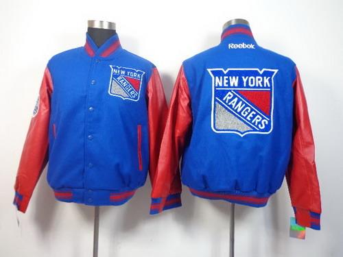 Men's New York Rangers Blank Light Blue Jacket