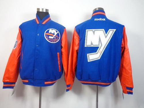 Men's New York Islanders Blank Light Blue Jacket