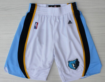 Men's Memphis Grizzlies White Shorts