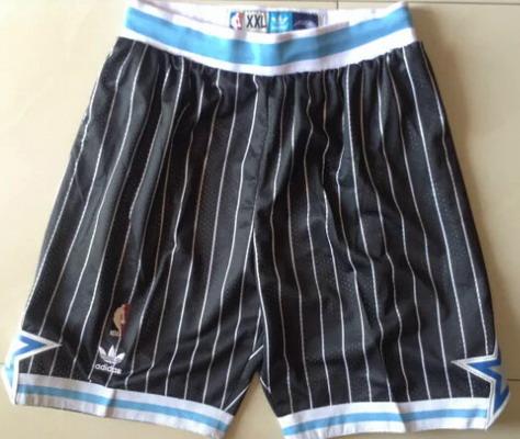 Men's Orlando Magic Black Pinstripe Shorts