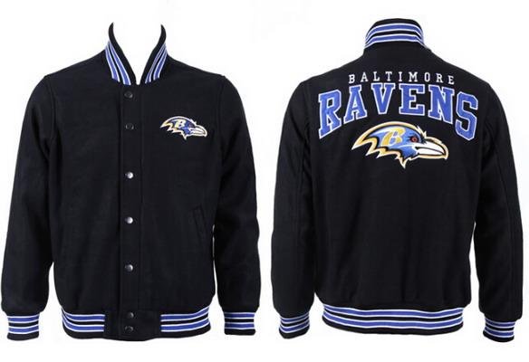 Men's Baltimore Ravens Black Jacket FY