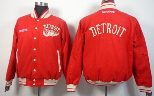 Men's Detroit Red Wings Blank Red Jacket