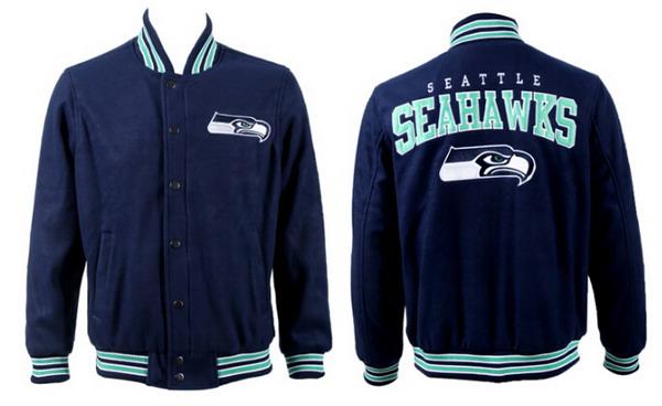 Men's Seattle Seahawks Navy Jacket FY