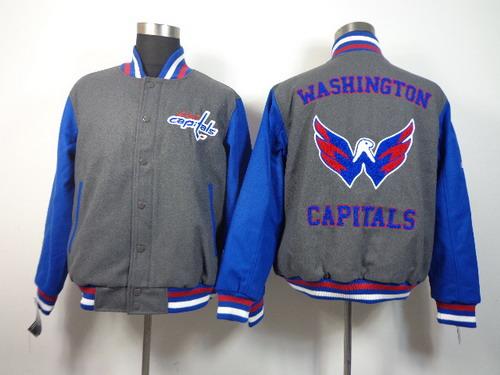 Men's Washington Capitals Blank Gray Jacket